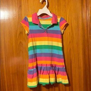 Carters 3t rainbow polo dress 🌈